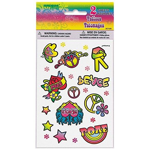 Tie Dye Tattoo Sheets 2ct