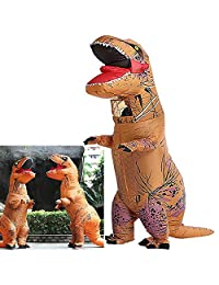 T-Rex Dinosaur Inflatable Costume Halloween Cosplay Blow up Outfit Fancy Dress Adult Toys