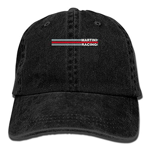 Men and Women Martini Racing Horizontal Stripe Vintage Jeans Baseball Cap ()