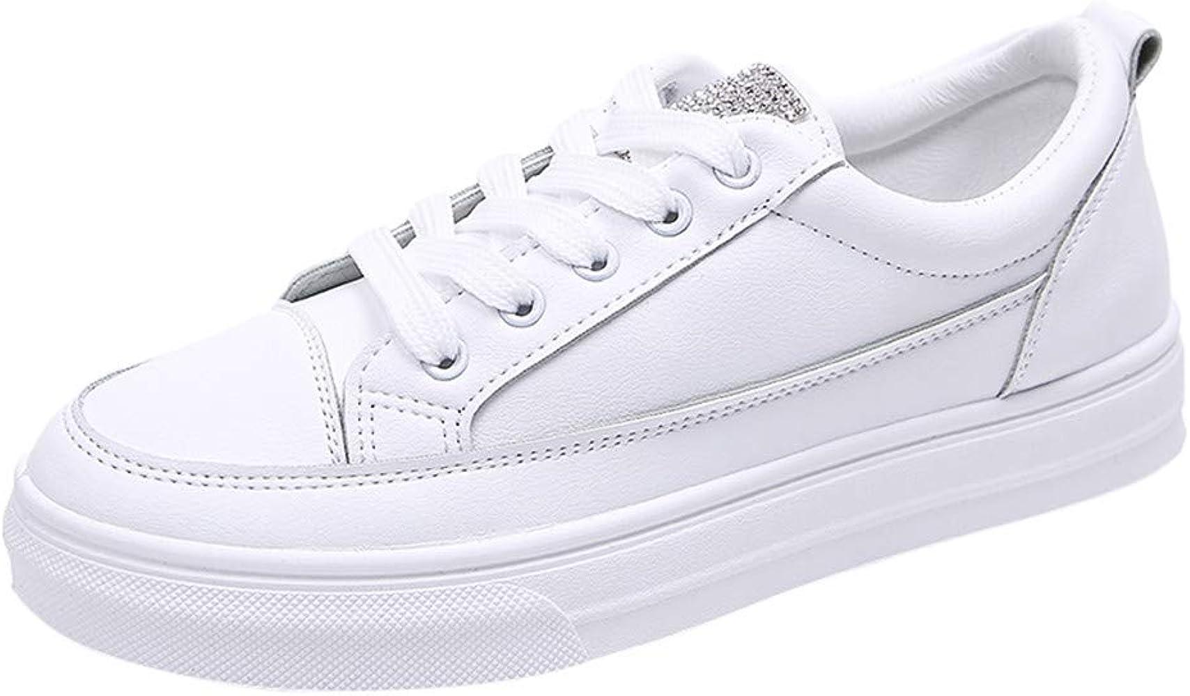 Zapatillas Blancas Mujer Zapatos Deportivos de Moda para Mujer ...