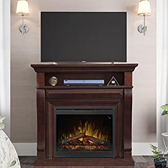 Amazon Com Dimplex Noah 47 Fireplace Mantel Tv Stand In Espresso