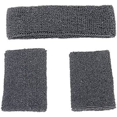 Sport Headband and Wrist band SODIAL R 1x Headband and Elastic Wrist band for Sports Gray Estimated Price £1.94 -
