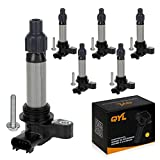 QYL Pack of 6 Ignition Coil for Buick Cadillac Chevrolet GMC Pontiac Saturn Suzuki V6 3.0L 3.2L 3.6L C1555 UF-569