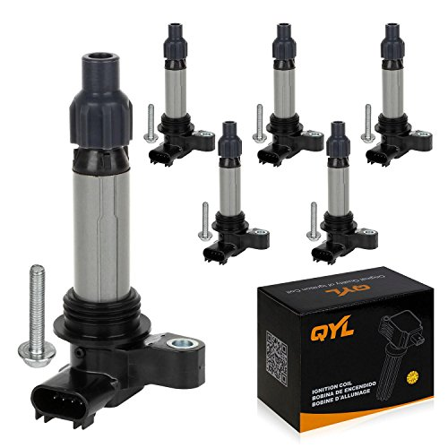 QYL Pack of 6 Ignition Coil for Buick Cadillac Chevrolet GMC Pontiac Saturn Suzuki V6 3.0L 3.2L 3.6L C1555 ()