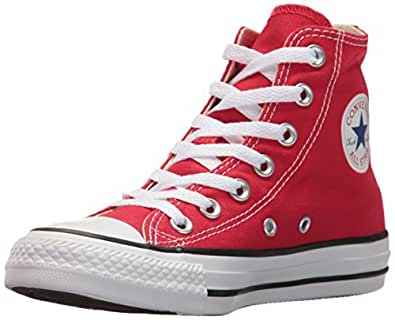 Converse Unisex-Child Mens Chuck Taylor All Star Canvas High Top Red Size: 1 M US
