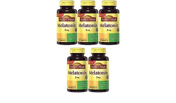 Amazon.com : Nature Made Maximum Strength Melatonin 5 mg, 90 Tablets (5 Bottles) : Beauty
