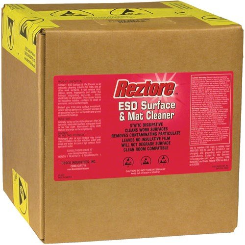 Desco 10438 Reztore Surface & Mat Cleaner (2.5 Gallon/Bag-in-Box Refill with Spout)
