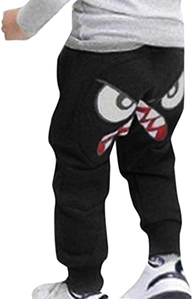 Kids Boy Casual Slacks Harem Pants Mickey Mouse Joggers Trousers Sweatpants 1-6Y