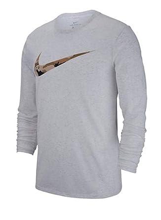 1346b6c080a721 Amazon.com: Nike Men's Dry Camo Long Sleeve Training T-Shirt Birch ...