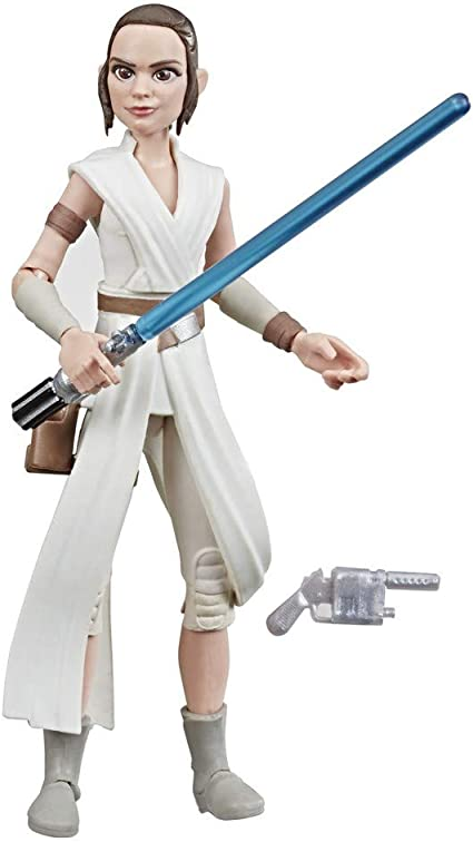 Amazon Com Star Wars Galaxy Of Adventures The Rise Of Skywalker Rey 5 Inch Scale Action Figure Toy With Fun Lightsaber Action Move Toys Games