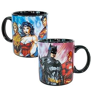 Amazon Com Justice League Superheroes 20oz Coffee Mug