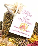 Luna Rain Botanicals' Herbs and Crystals for Yoni Steaming is a 1.5 oz hand-blend bag of 100% organic Mother's Wort, Calendula, Red Raspberry Leaves, Yarrow, Rose Petals, Lavender Flowers, and Full Moon & Ocean-Activated Rose Quartz Cryst...