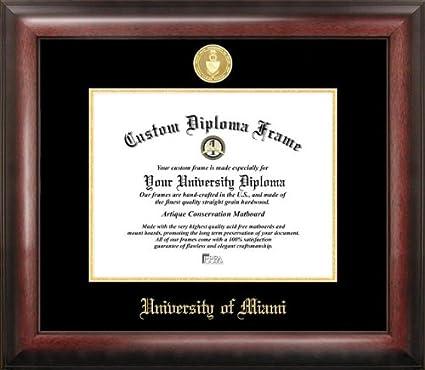 Amazon.com : University of Miami Gold Embossed Diploma Frame ...