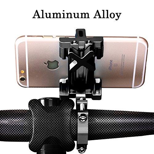 Handlebar Bag Mount (SpoLite Universal Premium Bike Phone Mount for Motorcycle - Bike Handlebars, Adjustable, Fits iPhone X, 8   8 Plus, 7   7 Plus, iPhone 6s   6s Plus, Galaxy S7, S6, S5, Holds Phones Up To 3.94