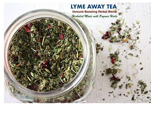 RAW Organic Herbal LYME AWAY Loose Tea Blend   Immune Boosting, Anti-Fungal and Anti-Bacterial Tea Mix   (Away Antibacterial)