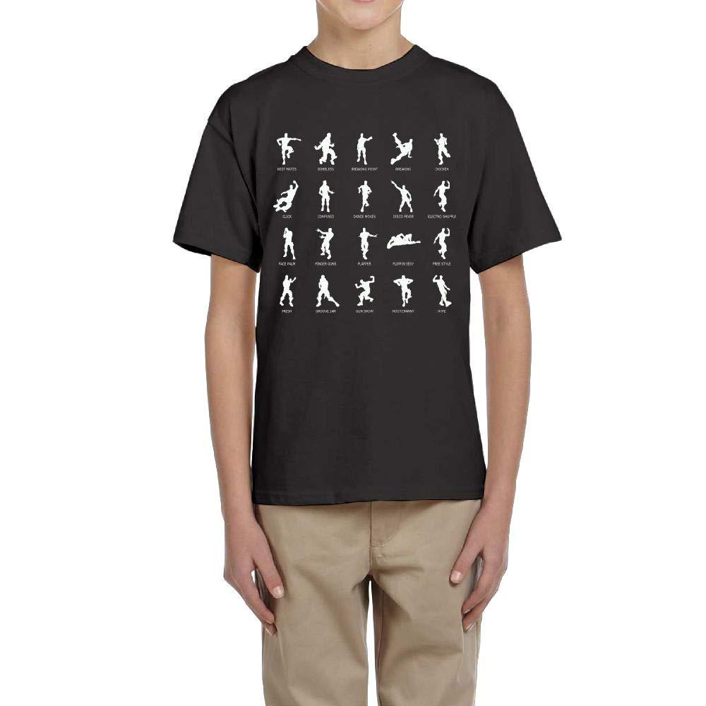 Aharyoa Kids Fortnite Dancing Action Yoga Graphic Teens Youth Creative Summer Short Sleeve T Shirt Girls Boys Funny Tee