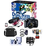 Canon EOS Rebel T7i DSLR Video Creator Kit EF-S 18-55mm IS Lens, Rode VideoMic Go, 32GB SD Card - Bundle Camera Case, 58mm Filter Kit, Memory Wallet, Cleaning Kit, Mac Software Package