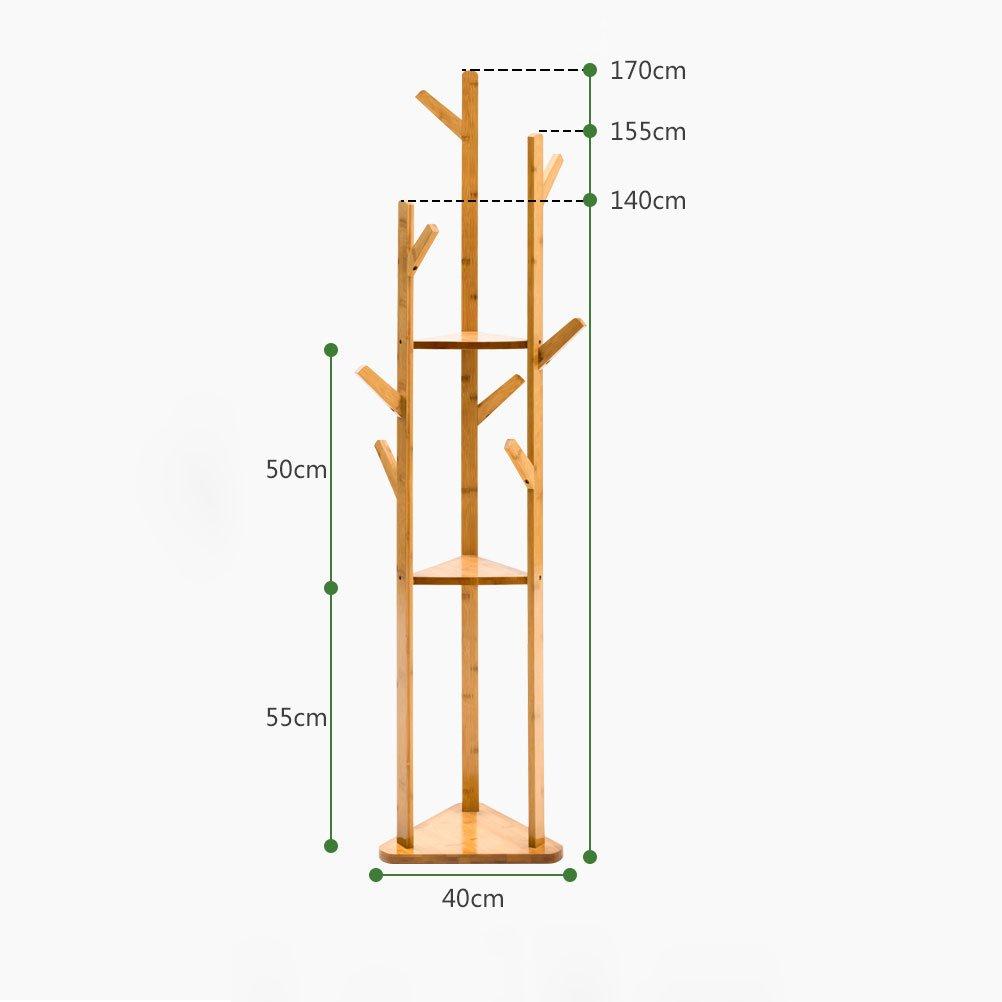 Einfacher Kleiderst/änder Holz Schlafzimmer Kleiderb/ügel Rack Kleiderst/änder Boden Typ Home Storage Rack Shelf LUYIASI
