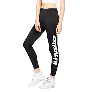 mujer Pantalones de running Womens Nylon Leggings delgados ...