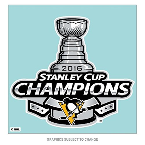 Pittsburgh Penguins Champions Official NHL 2016 Stanley Cup Automotive Car Decal 8x8 Champs Wincraft 646132