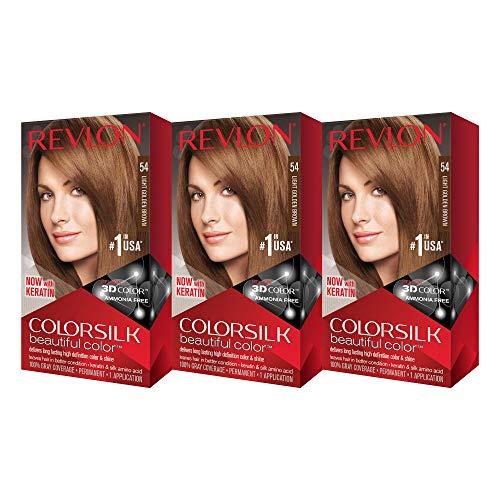 (Revlon ColorSilk Hair Color 54 Light Golden Brown 1 Each ( Pack of 3))