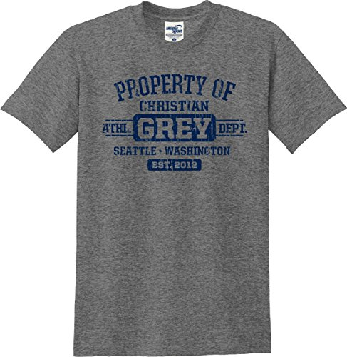 Fifty Shades of Grey Inspired Property of Christian Grey Athletic Department T-Shirt (S-5X) (XX-Large, Graphite Heather)