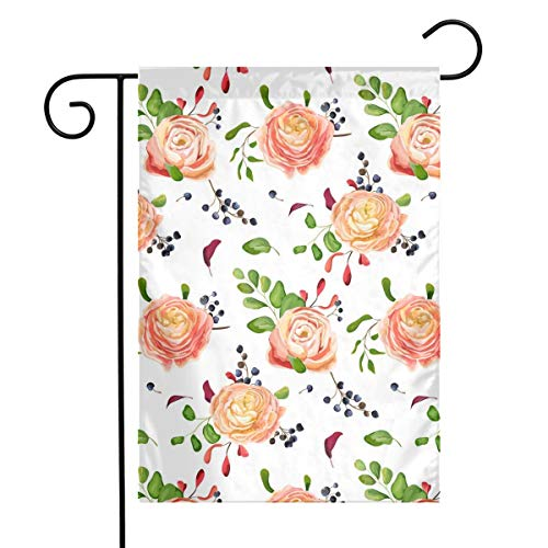 - Porter Grote Seasonal Garden Flags Set for Outdoors -12 X 18 Inch Outdoor Yard Flags,Pink Rose Grape Bunch House Yard Flag Decorative-Polyester,Durable