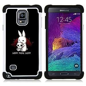- nom bunny ears scull Halloween dark/ H??brido 3in1 Deluxe Impreso duro Soft Alto Impacto caja de la armadura Defender - SHIMIN CAO - For Samsung Galaxy Note 4 SM-N910 N910