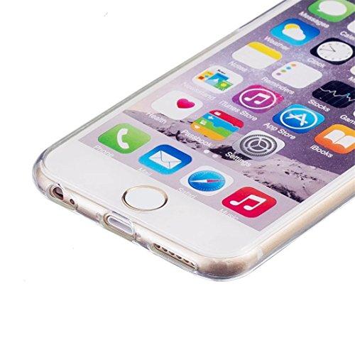 kshop leuchtend accessori per iPhone se/iPhone5/iPhone 5S cellulare Case trasparente in TPU morbido silicone gel fosforescente cover notte glühen notte Rallentatore tasche flessibile pelle auto Shell