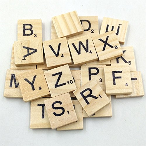 100Pcs/set English Words Wooden Letters Alphabet Tiles Black Scrabble Letters & Numbers For Crafts Wood Kangsanli