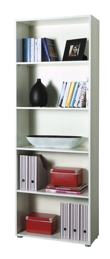 Libreria design moderno colore bianco scaffale con 5 ripiani cm ...