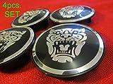 xj wheel center caps - 4 New Jaguar S Type X Type XJ8 XK8 XKR Wheel Center Cap Black