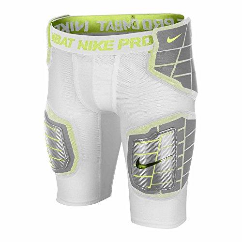 Nike Pro Hyperstrong Hardplate Équipée Garçons Shorts De Football Blanc / Blanc / Volt / Volt