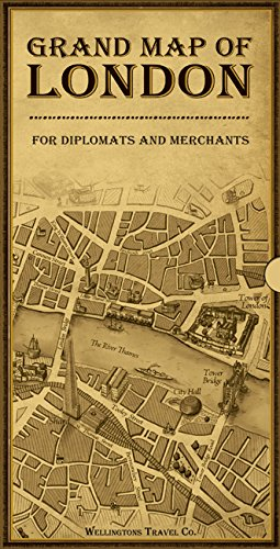 Vintage Travellers London Map: Grand Map of London for Diplomats and Merchants 2012