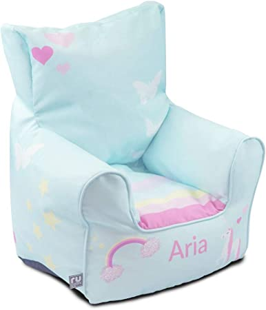 Personalised Unicorn Toddler Armchair Beanbag