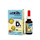 allKiDz® Vitamin D3 Drops (for babies) 400IU children toddler VD3 liquid (25 ml)