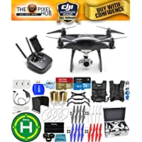 DJI Phantom 4 Pro Black Obsidian Edition Drone PRO BUNDLE With Aluminum Case, Vest Strap, Extra Props, Filter Kit Plus Much More (1 Battery)