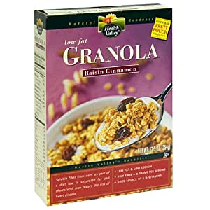 Health Valley Low Fat Granola, Raisin Cinnamon, 12.5-Ounce Boxes (Pack of 6)