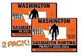 Washington-SASQUATCH HUNTING PERMIT LICENSE TAG DECAL TRUCK POLARIS RZR JEEP WRANGLER STICKER 2-PACK!-WA