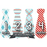 Months in Motion 753 Monthly Baby Stickers Necktie Tie...