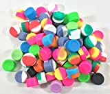 1000 pcs 3ml Silicone Container Jar Round Non-Stick Mixed Colors Wholesale