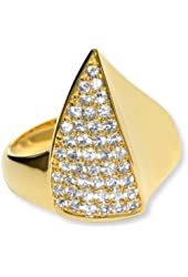 Elizabeth and James Thorns 18k Gold-Plated White Sapphire Large Ring