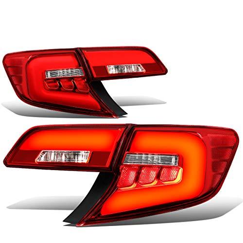 (For 12-14 Camry Red Housing 3D LED Tube Bar Tail Light Rear Brake Lamps)