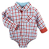 Andy & Evan Gingham Shirtzie - Red, 3/6