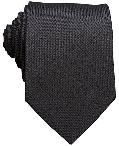 Perry Ellis Oxford Solid Tie (One size, Black) Perry Ellis Silk Shirt