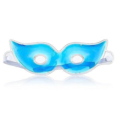 Máscara de ojos de gel de hielo que reduce los círculos oscuros y las arrugas del