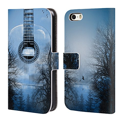 Officiel Mark Ashkenazi Nuit Mystique Musique Étui Coque De Livre En Cuir Pour Apple iPhone 5 / 5s / SE