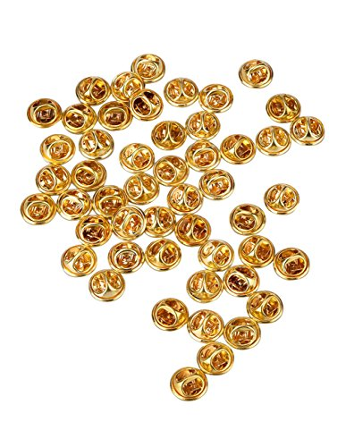 Mudder Clutch (Mudder 50 Pieces Brass Butterfly Clutch Badge Insignia Clutches Pin Backs Replacement)