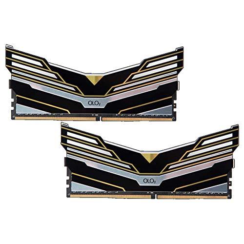 OLOy Memory Warhawk RGB Aura Sync DDR4 RAM 32GB (2x16GB) 3600 MHz CL19 1.35V 288-Pin Desktop Gaming UDIMM (MD4U163619BEDA)
