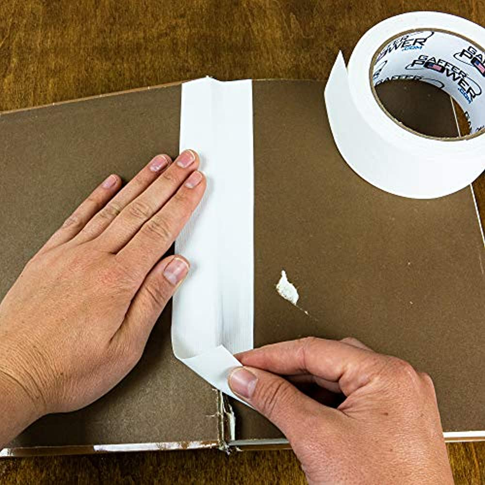 Bookbinding Tape By Gaffer Power, White Cloth Repair Safe